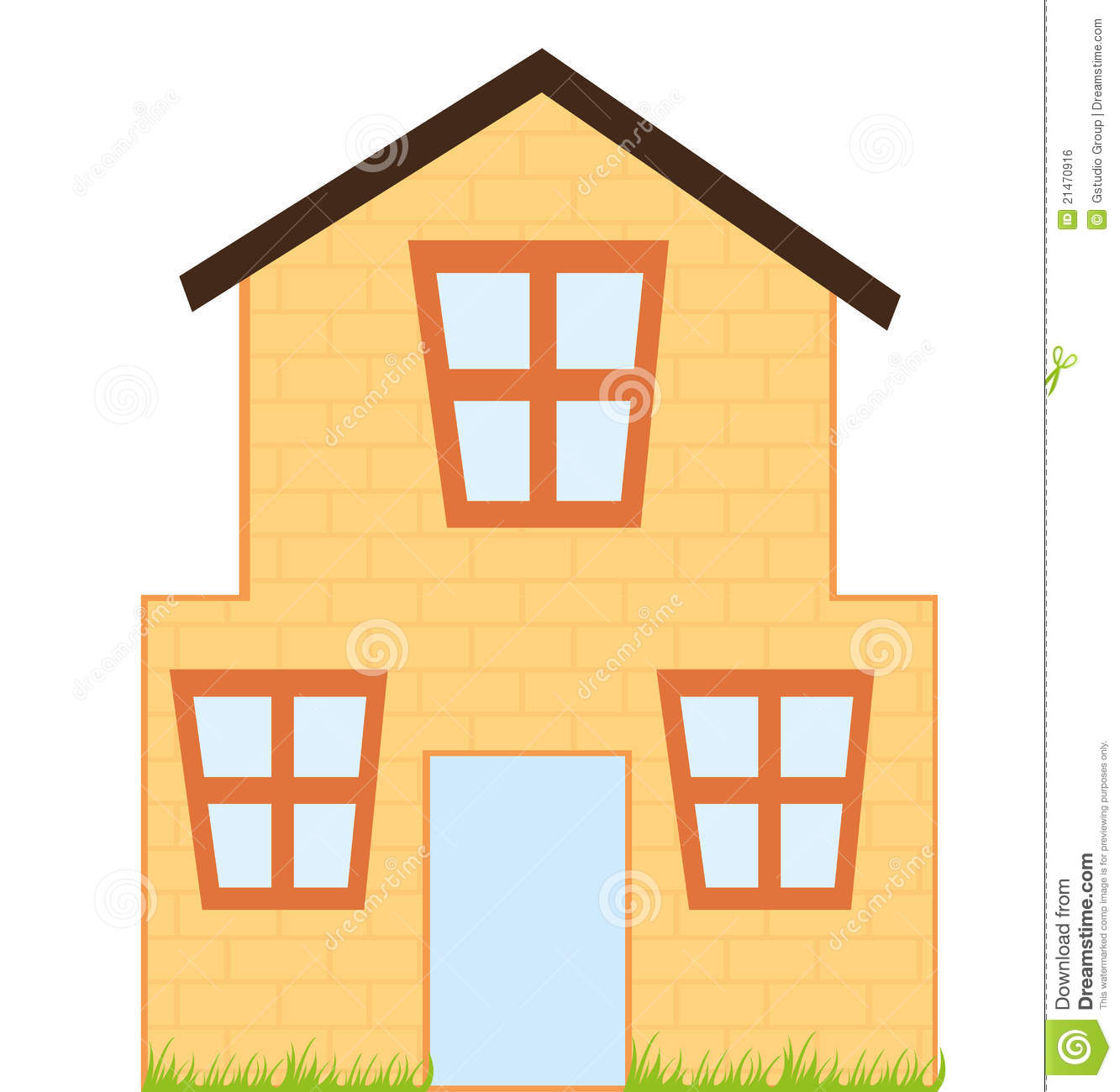 House Cartoon Stock Vector Image Of Real Home Landscape