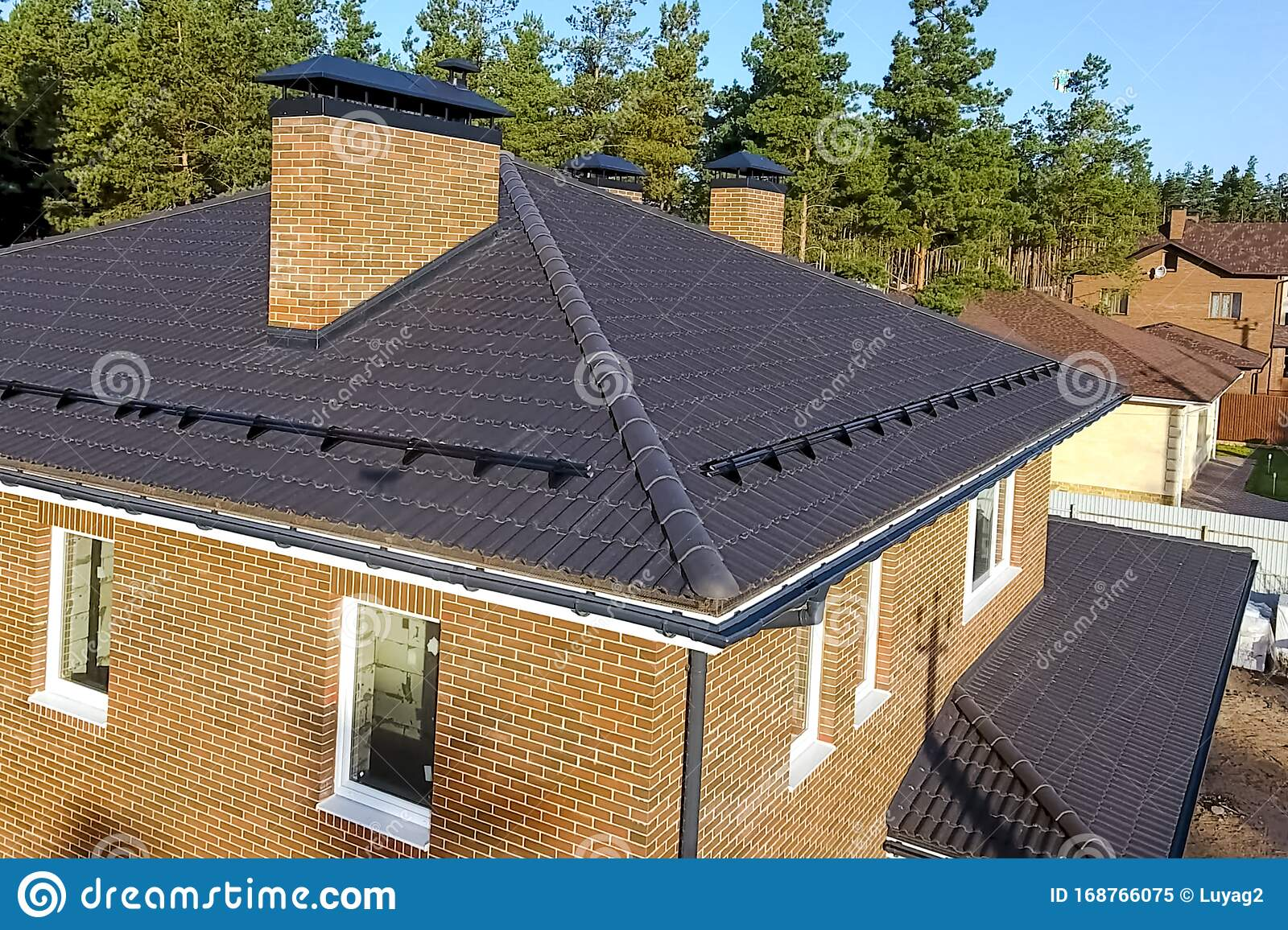 House With Ceramic Tile Roof Cement Sand Roof Tiles Stock Image Image Of Design Isolated 168766075