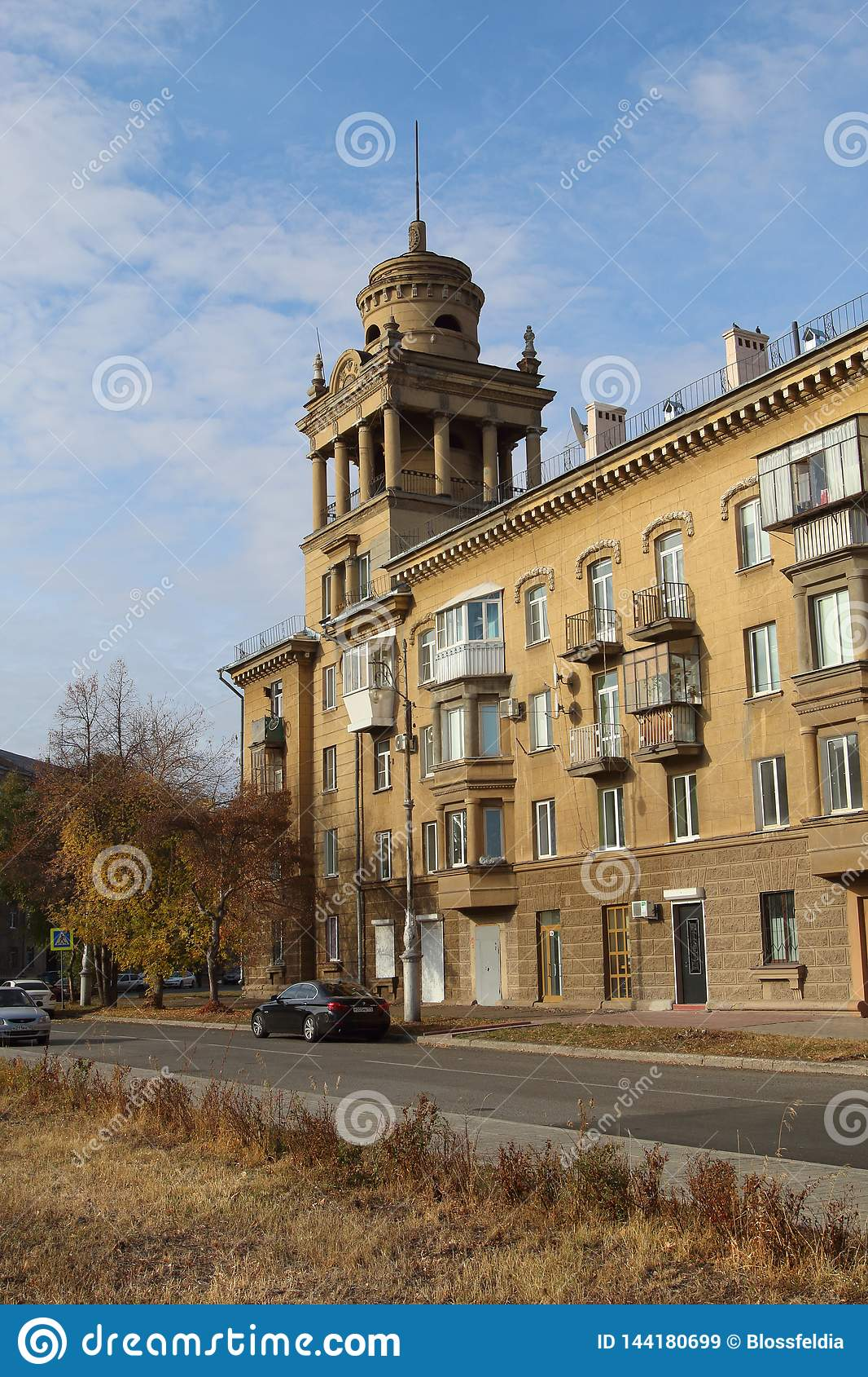 House on Chapaev street, Magnitogorsk city, Russia