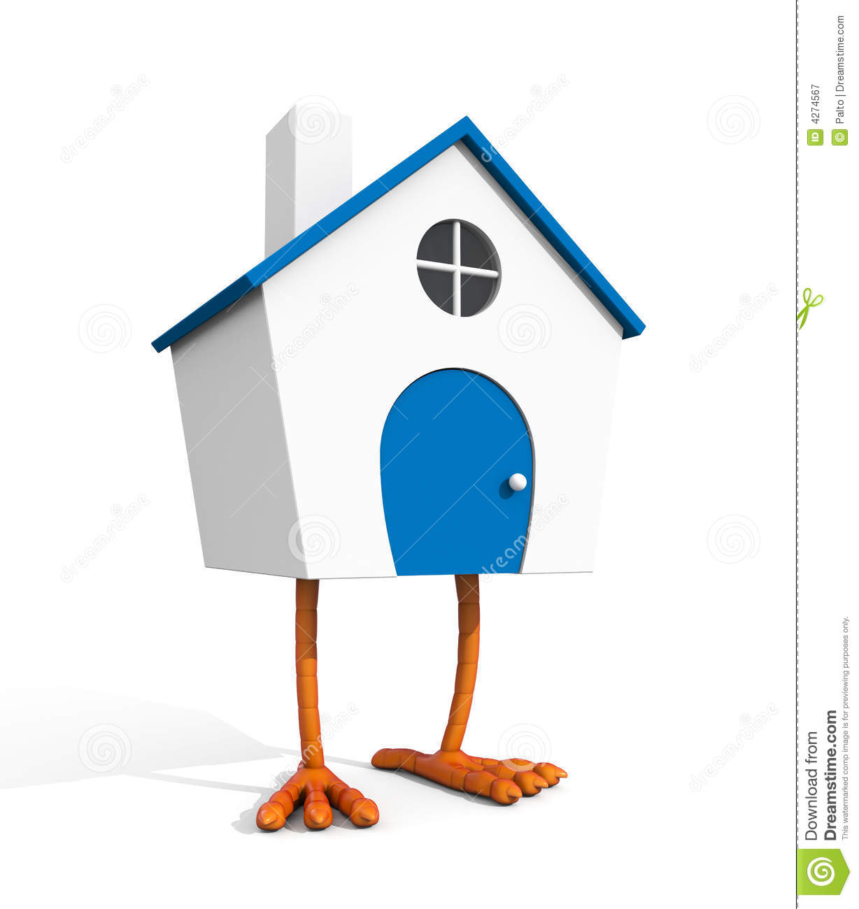 house with chicken legs