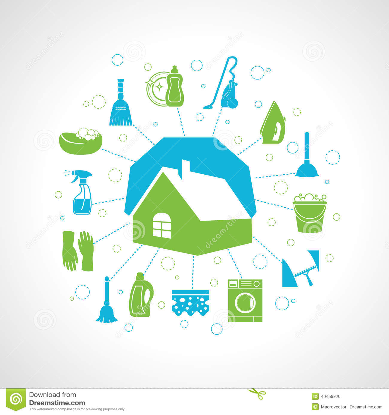 Stock Photo House Cleaning Concept Washing Housework Icons Set Vector Illustration Image40459920 on Dusting Cleaning Clip Art Free