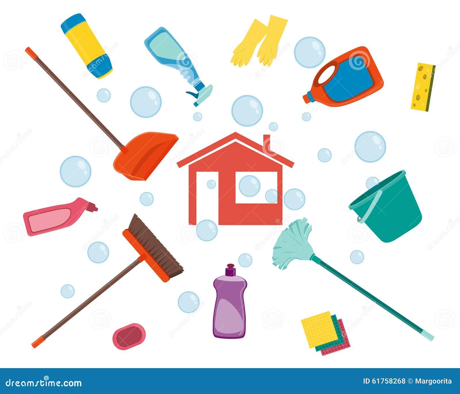 House cleaning stock vector illustration of industry - Imagenes de limpieza de casas ...