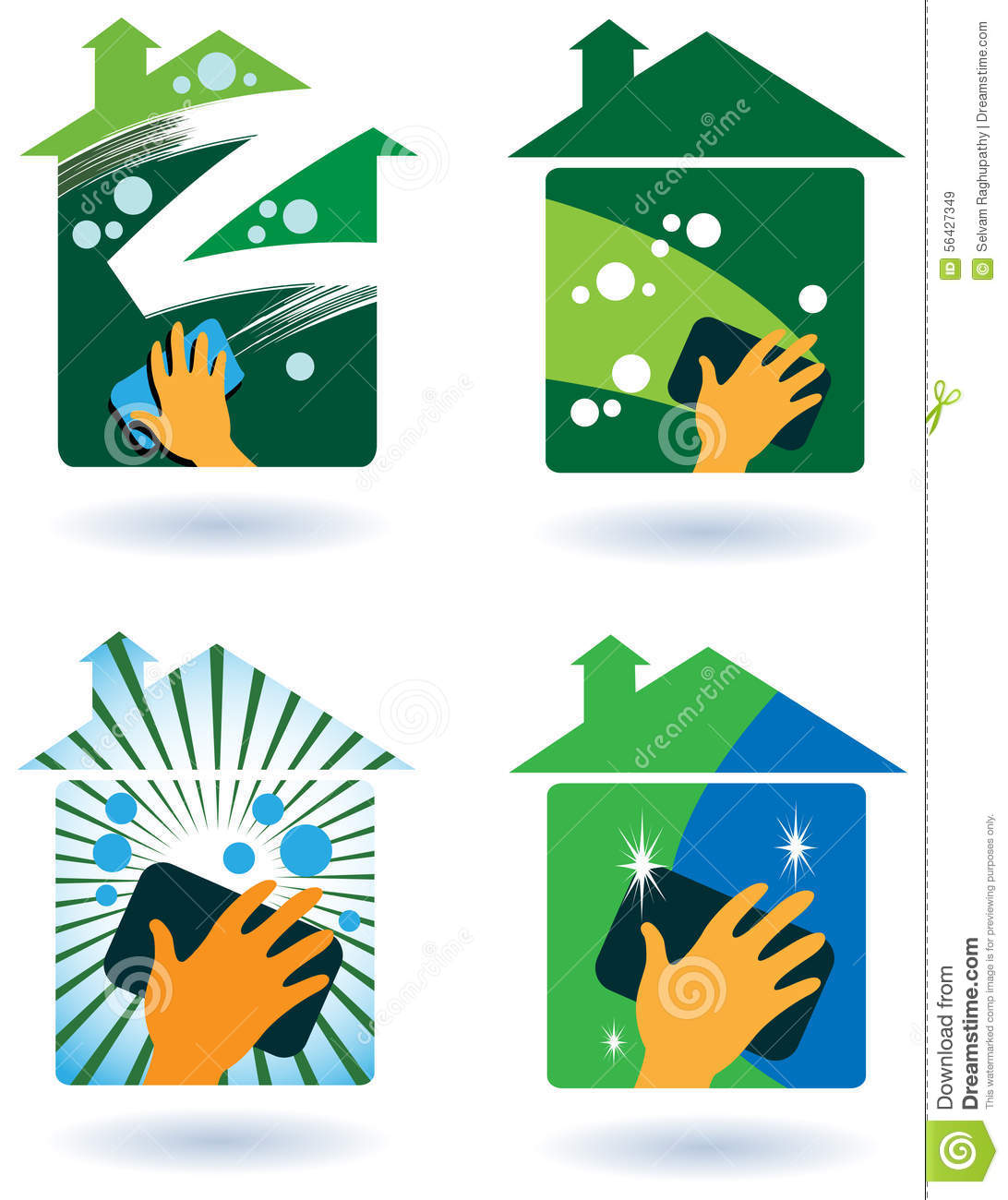 House Cleaning Service Stock Vector Image 56427349