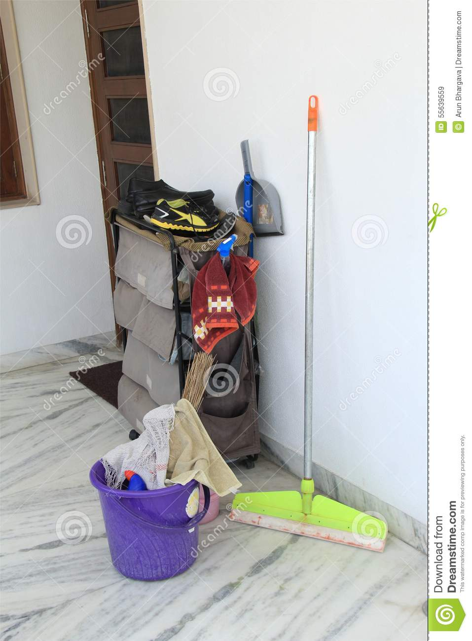 House cleaning tools stock image image of dust clean for Other uses for household items