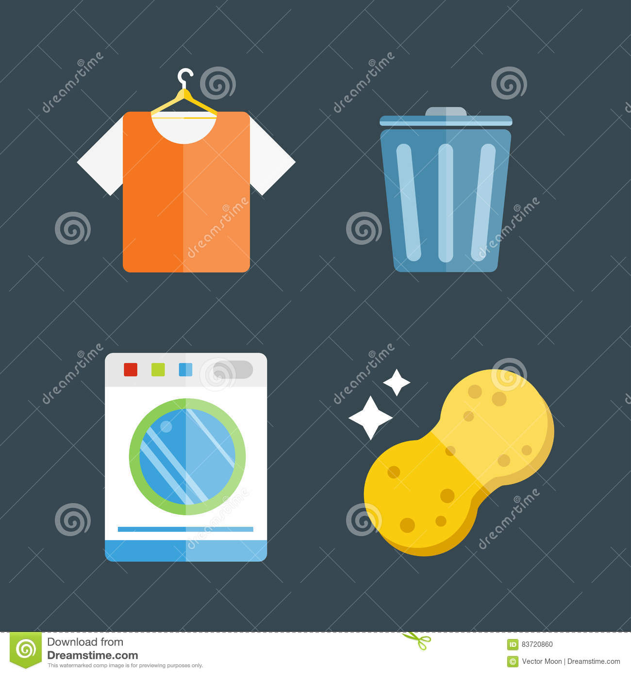 House Cleaning Tools Vector Stock Vector