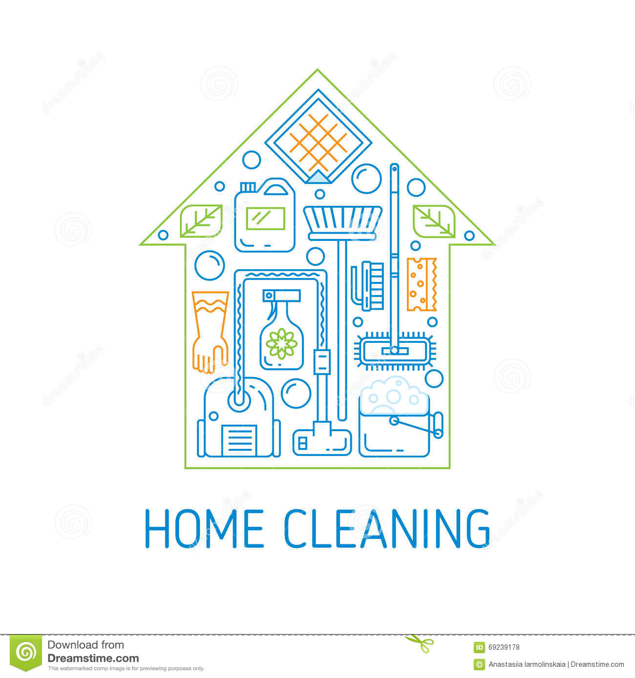 House cleaning vector concept stock vector image 69239178 for Modern cleaning concept