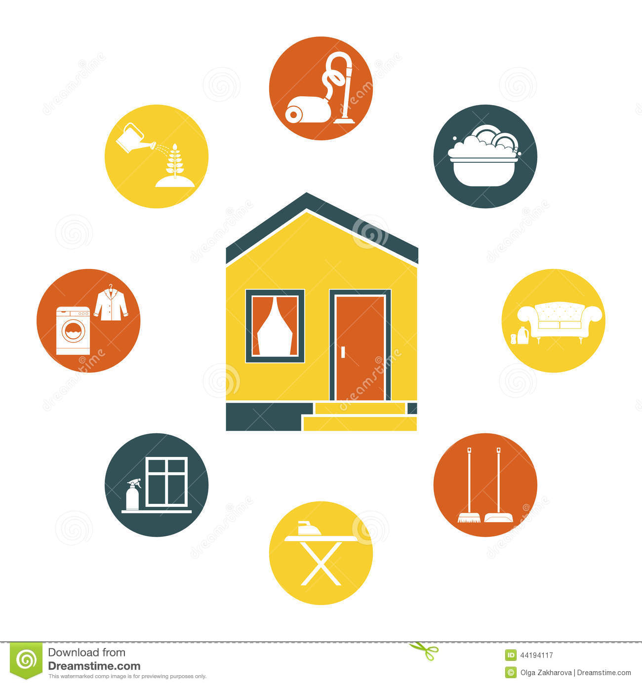 House Cleaning Stock Vector Image 44194117