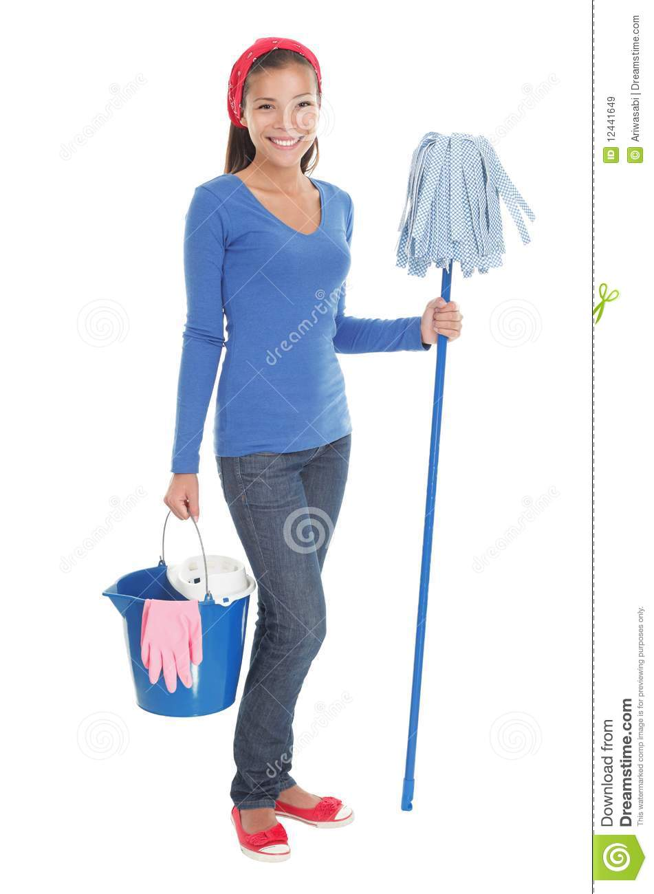 House Cleaning Woman Royalty Free Stock Images Image