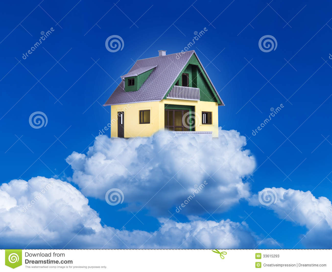 House On Clouds Stock Photos Image 33615293