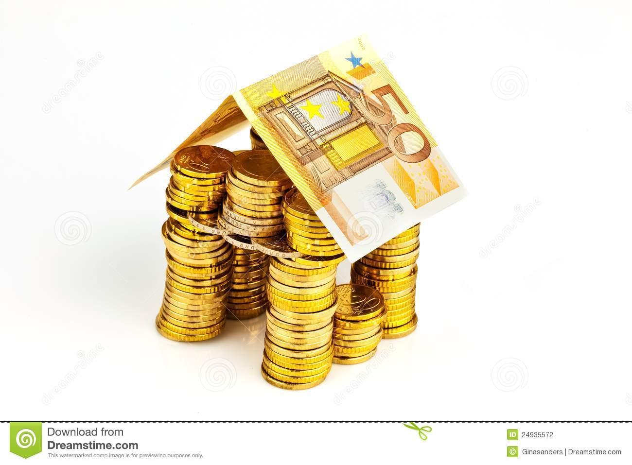 House From Coins From Money Stock Photography Image