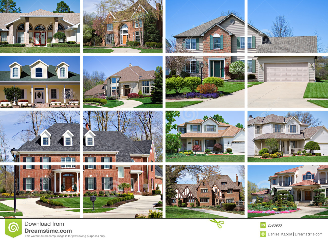 House collage stock photo image 2580900 for Real house