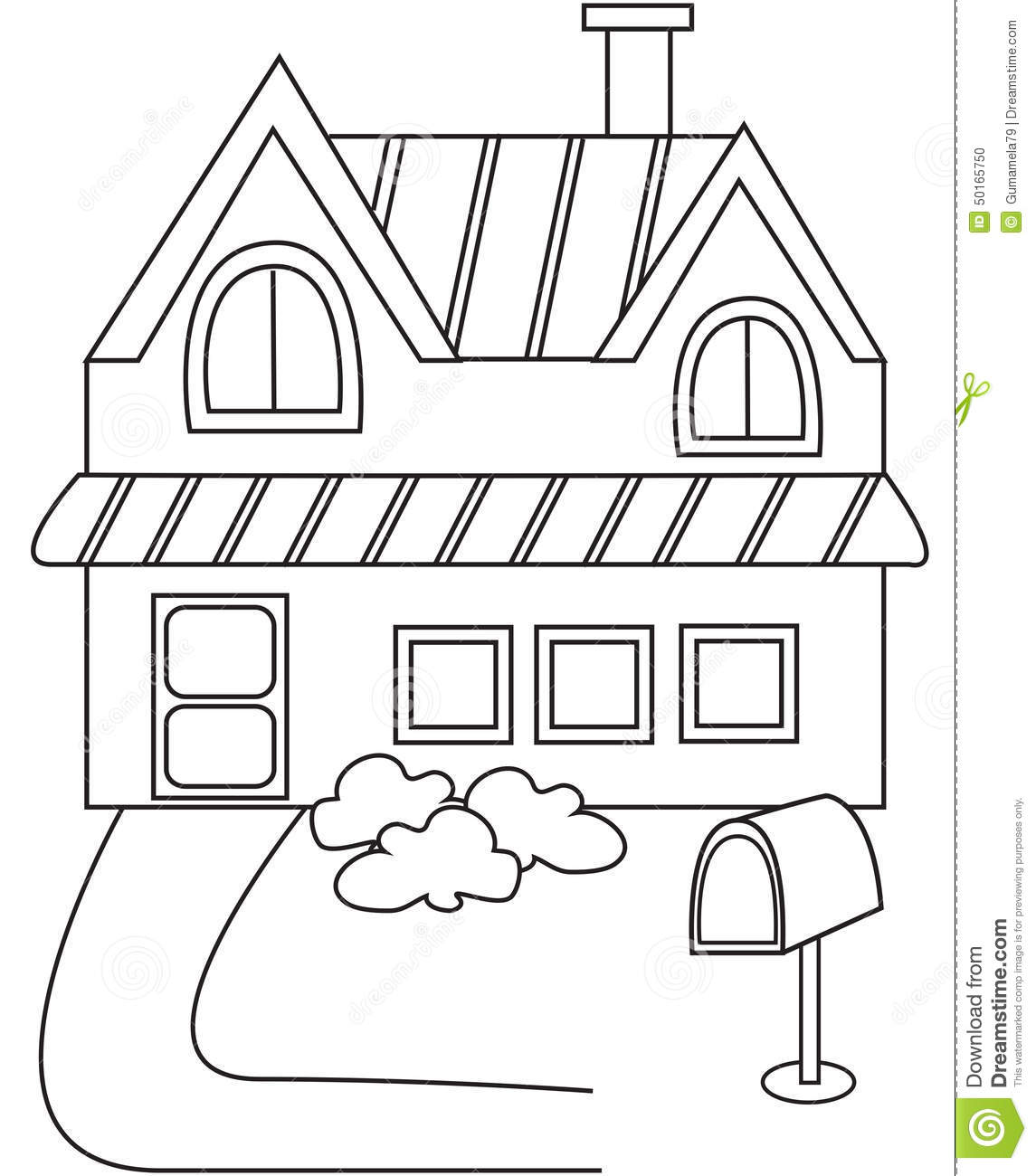 House Coloring Page Stock Illustration Of Characters