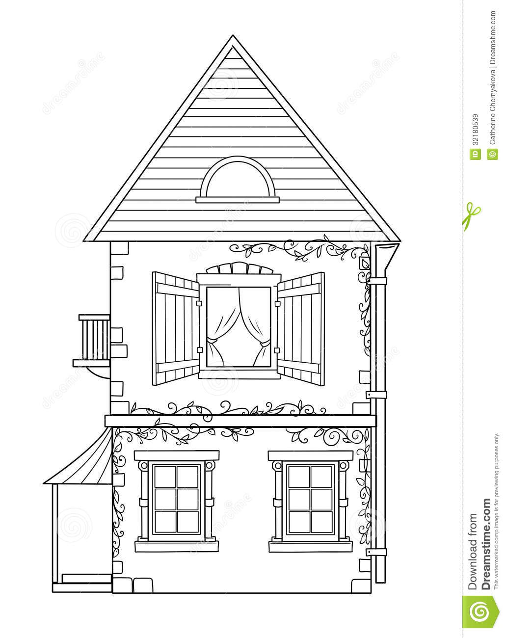 House Coloring Pages Royalty Free Stock Images