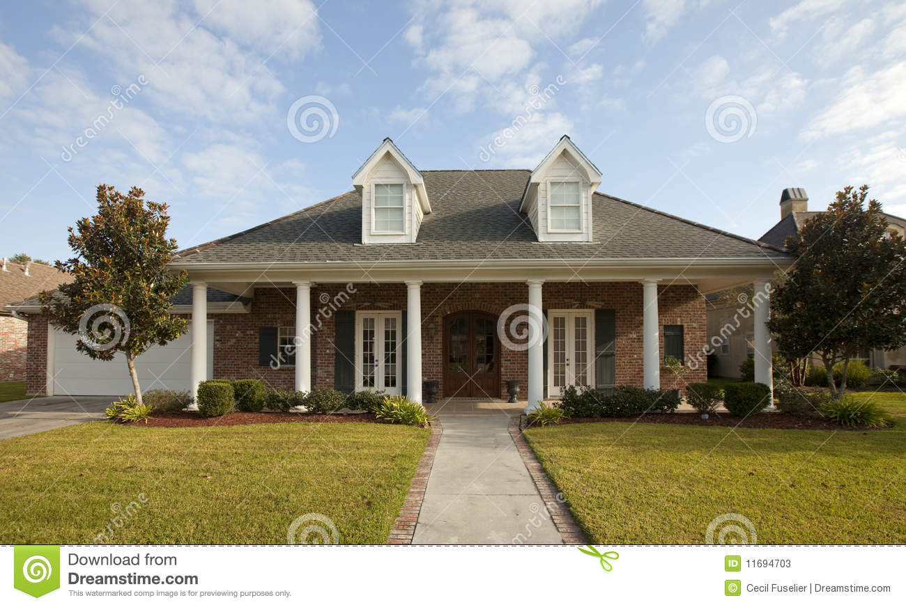 House with columns stock photos image 11694703 for House plans with columns