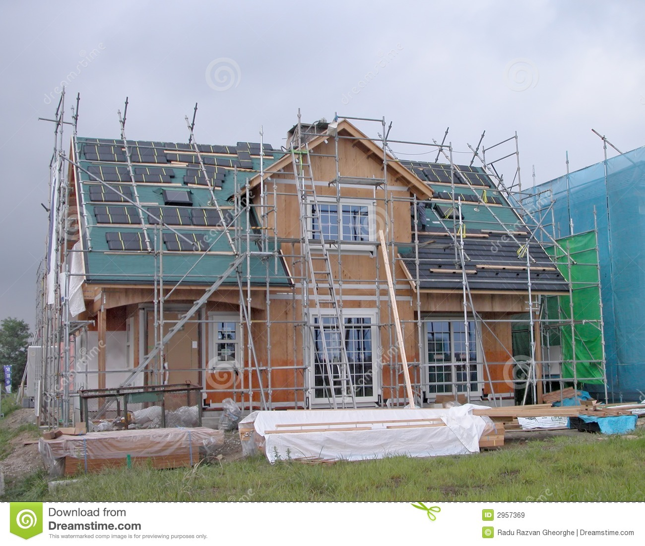 house construction stock image image of real incomplete