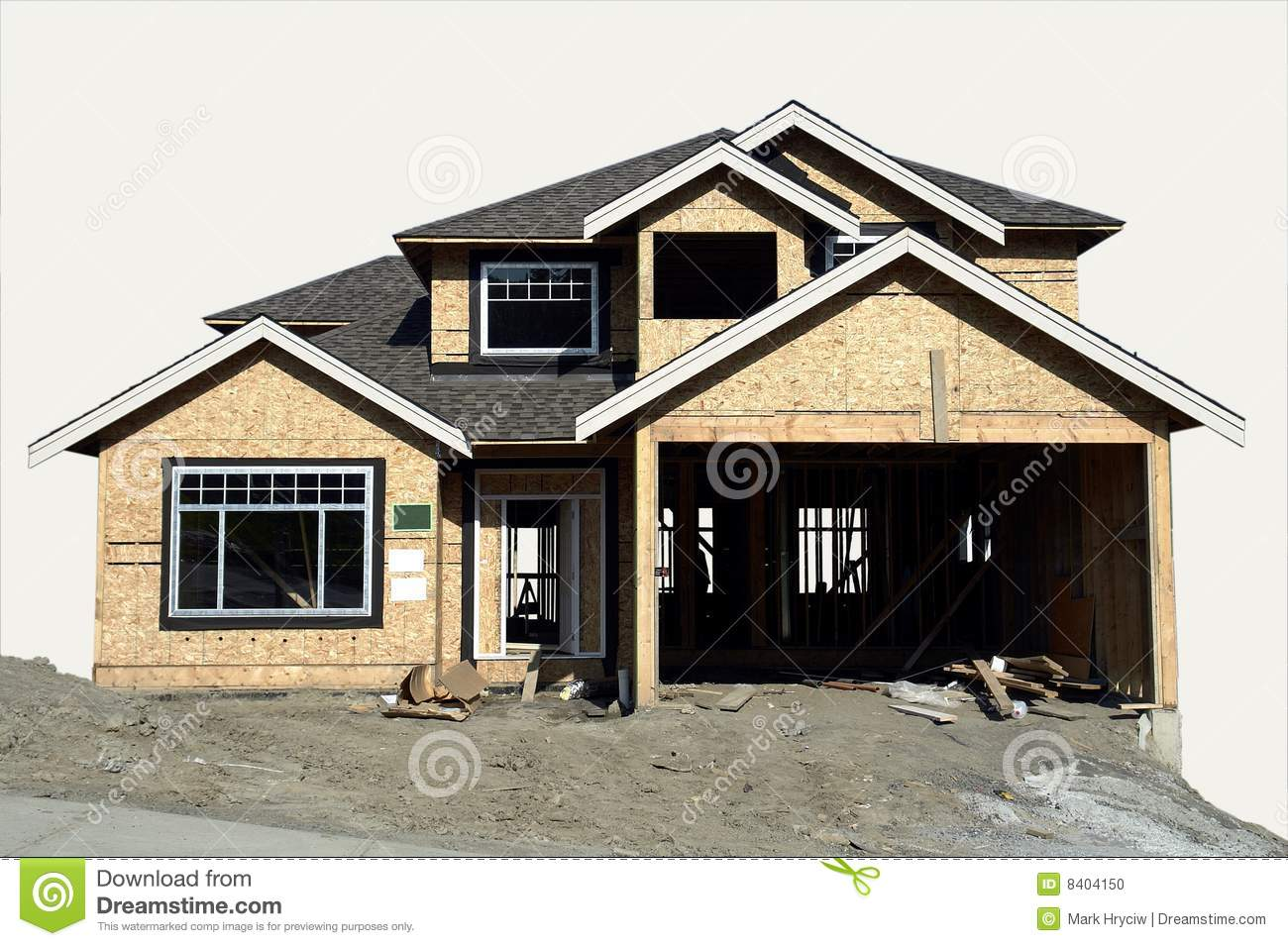 House construction stock photo image of framing for House building contractors