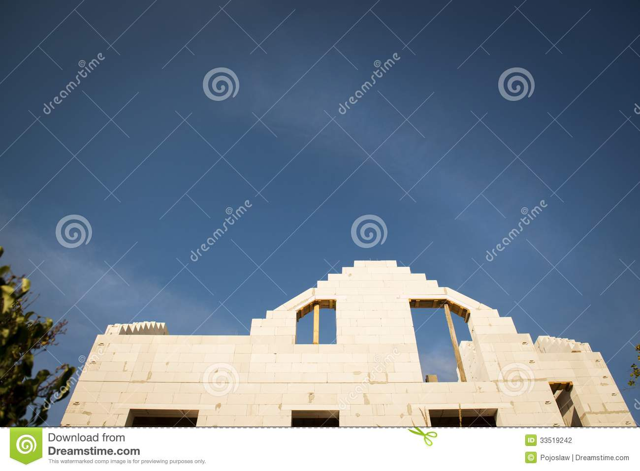 House construction stock photography image 33519242 for New home building contract