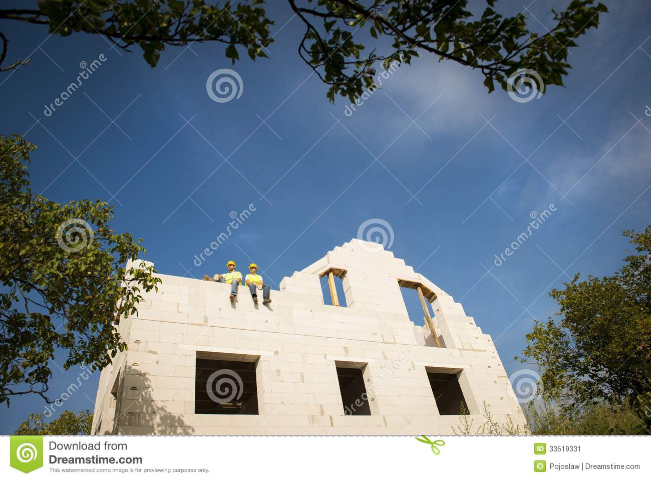 House Construction Stock Image Image Of Industry Clouds