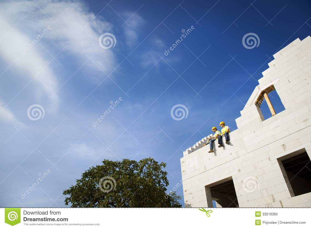 House Construction Stock Photo Image Of Clouds