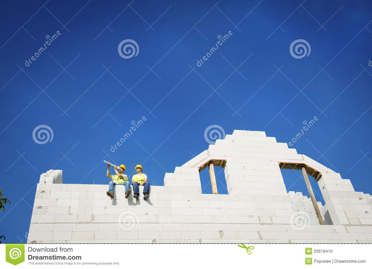 House construction stock photo image 33519410 for House construction contractors