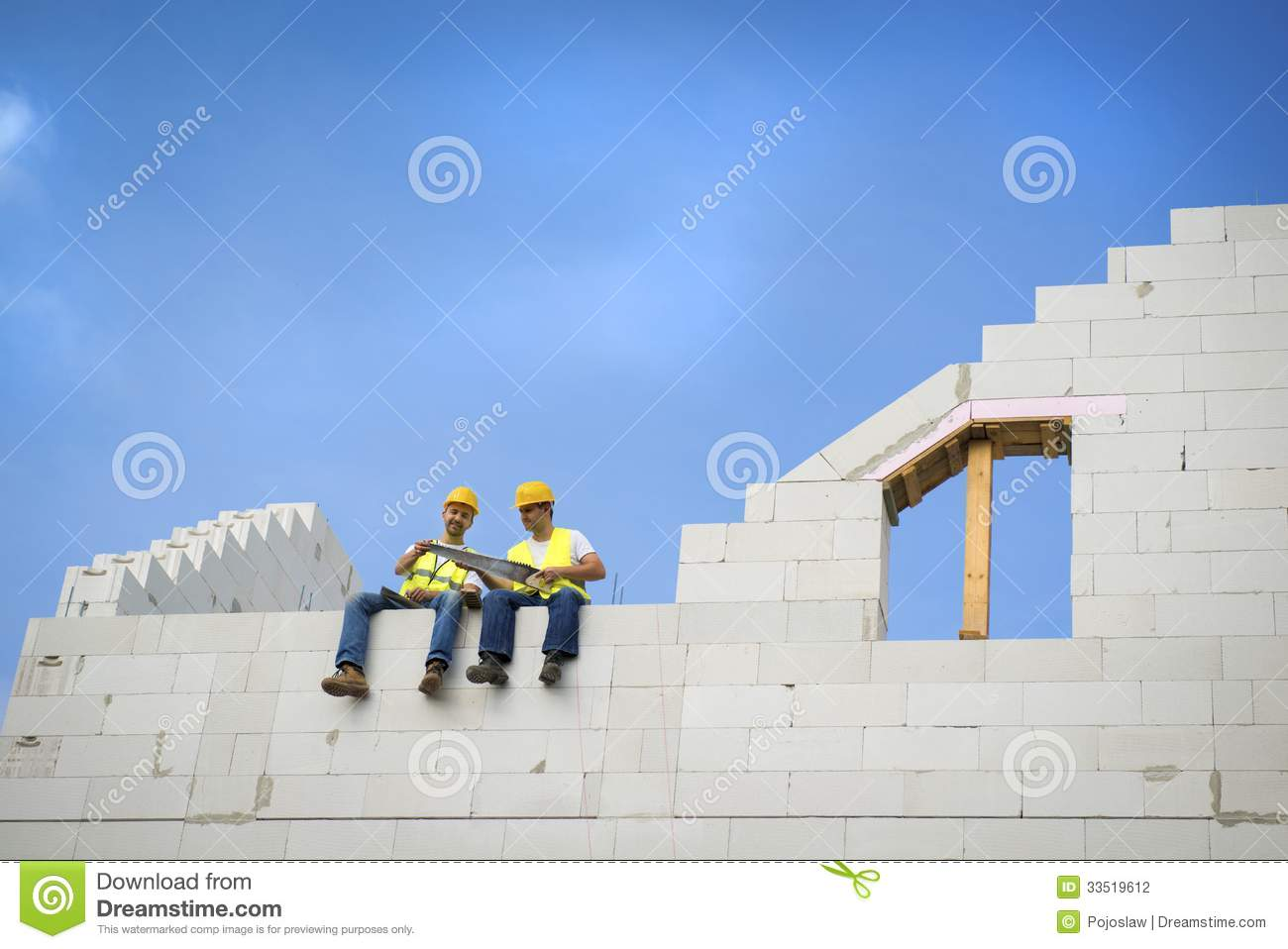 House construction stock photography image 33519612 for New house construction contract