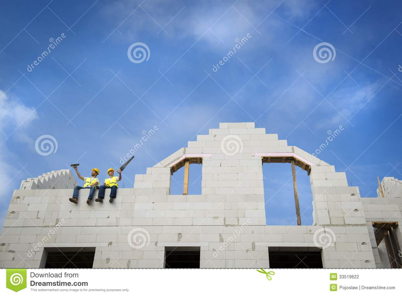 House construction stock photography image 33519622 for New house construction contract