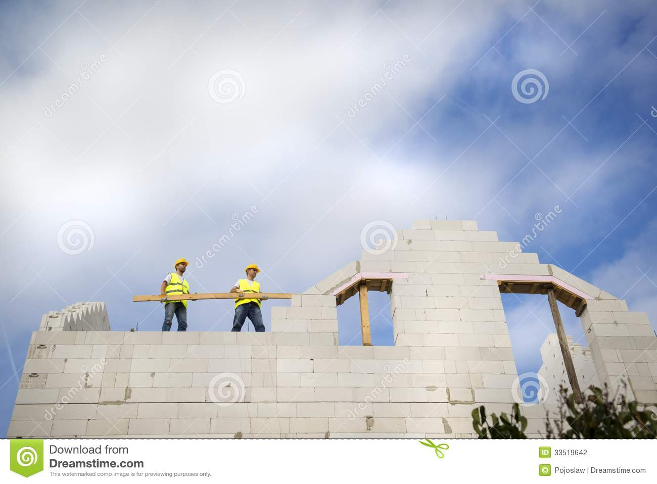 House construction stock photography image 33519642 for New house construction contract