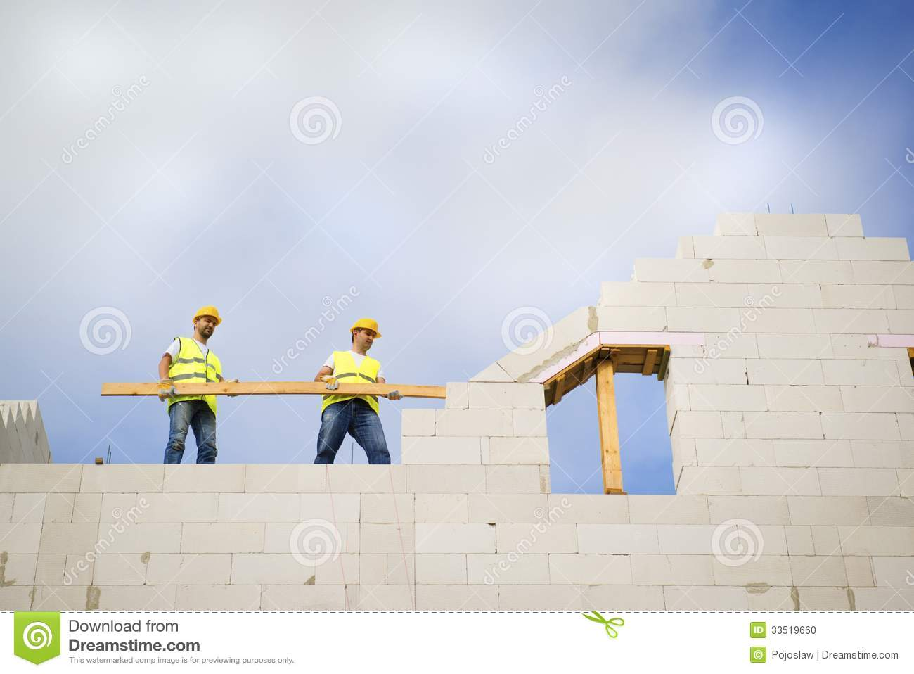 House construction stock photo image 33519660 for New house construction contract