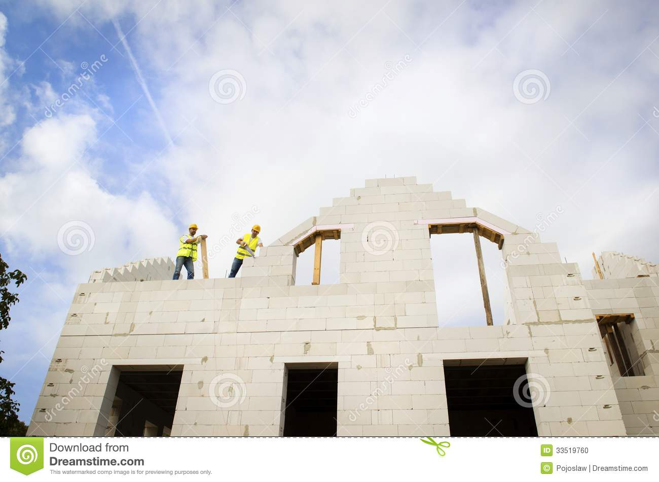 House construction stock photo image 33519760 for House building companies