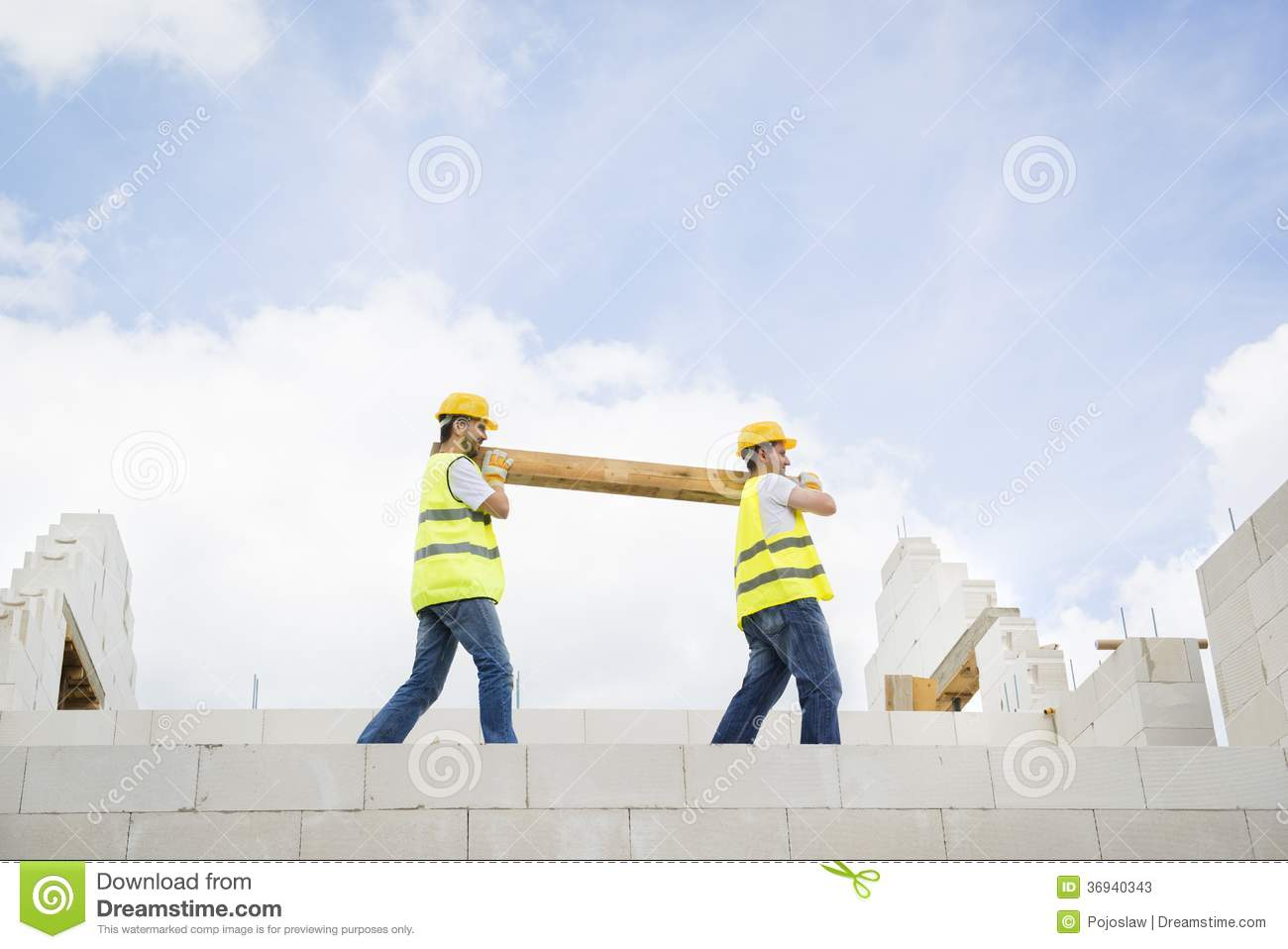 House construction stock photos image 36940343 for New house construction contract