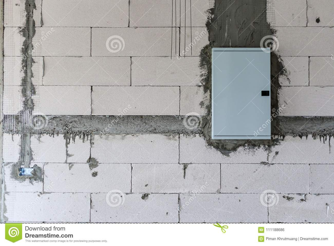 House Construction Interior With Electric Box Stock Photo - Image of ...