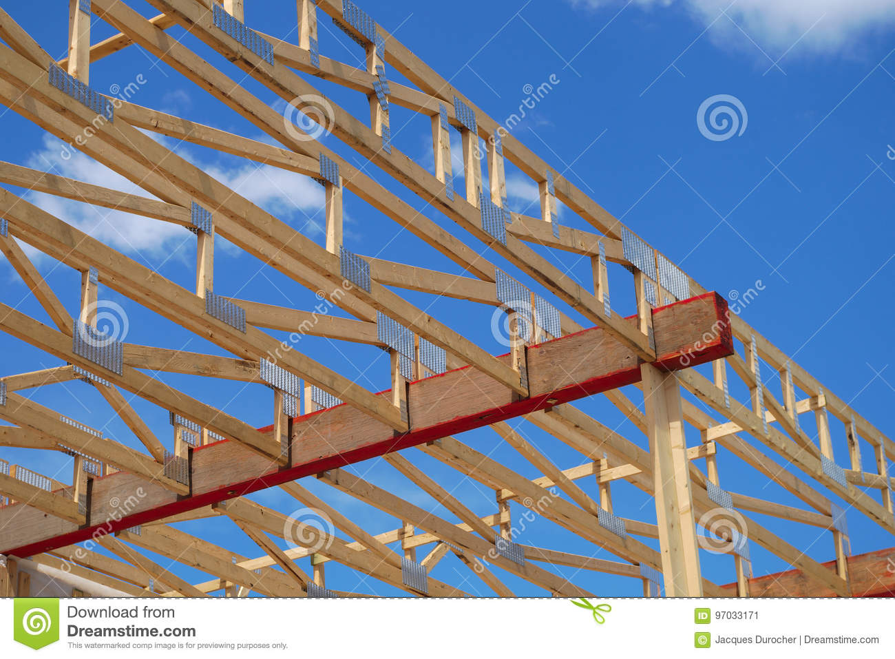 House Construction Wood Framework Structure Carpentry