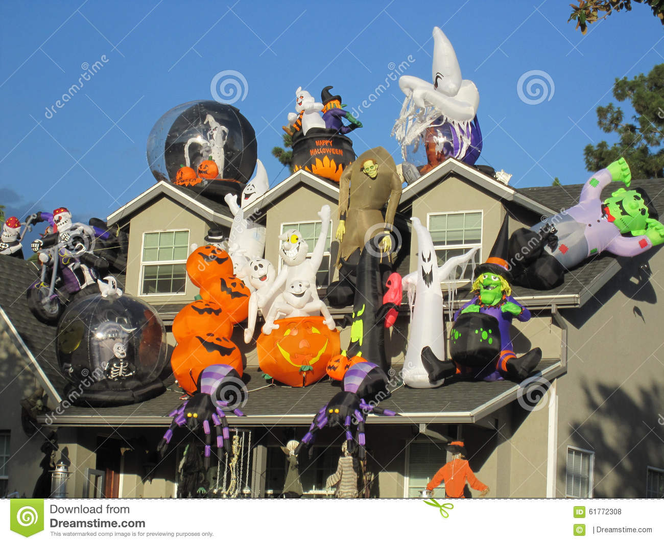covered decorations halloween house huge