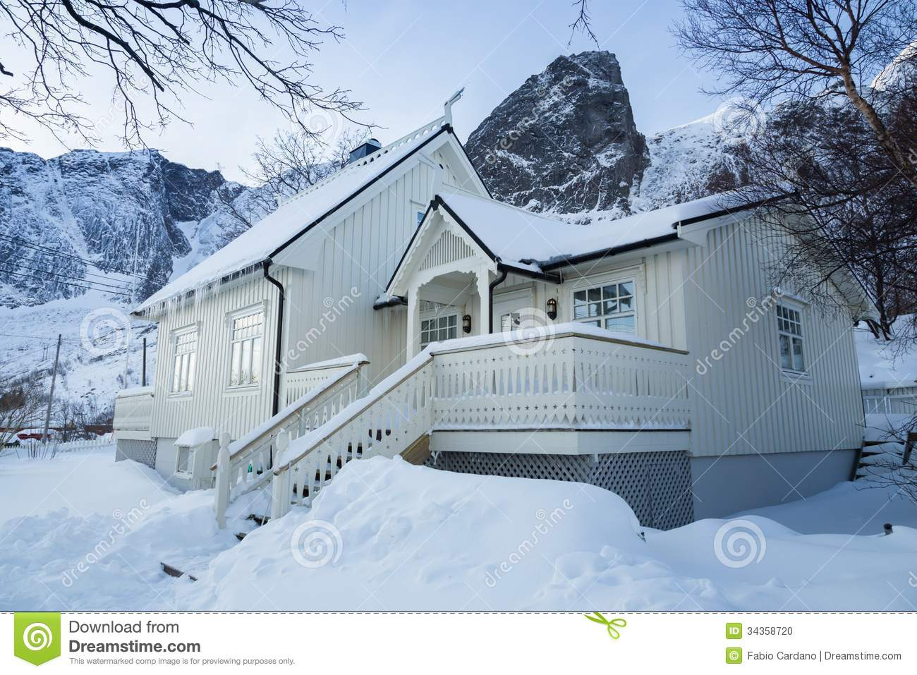 snow covered house - photo #9