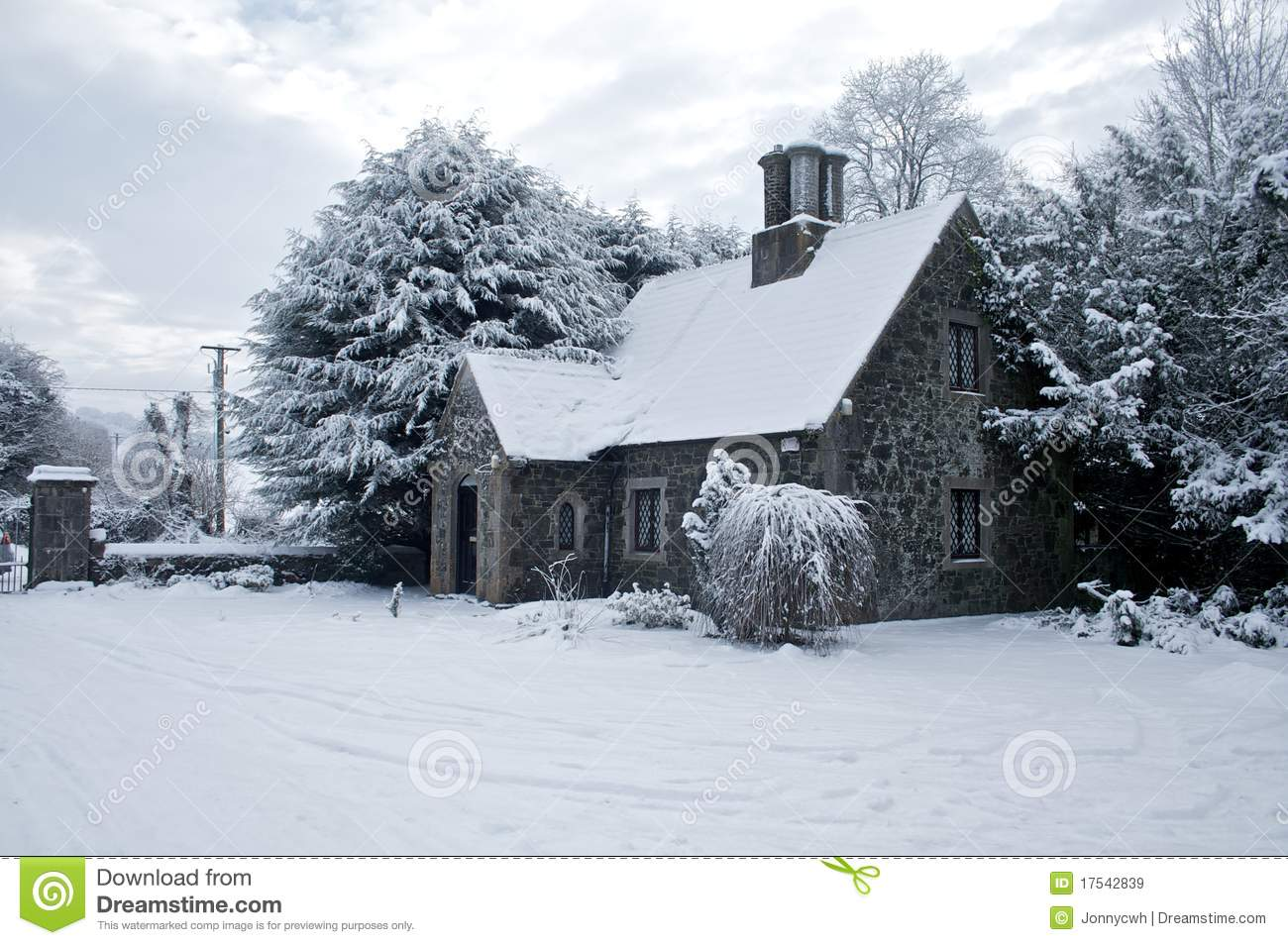 snow covered house - photo #30