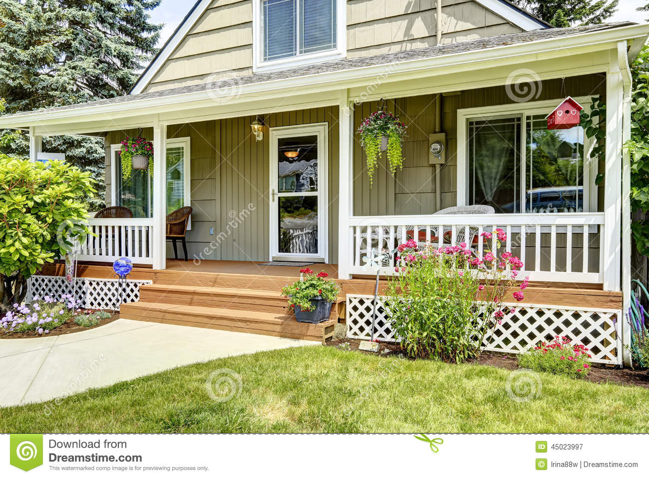 House with cozy entrance porch stock image image of for House porch