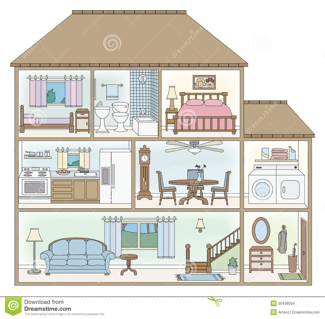 House cross section stock vector image of table section 30438004 Build my home