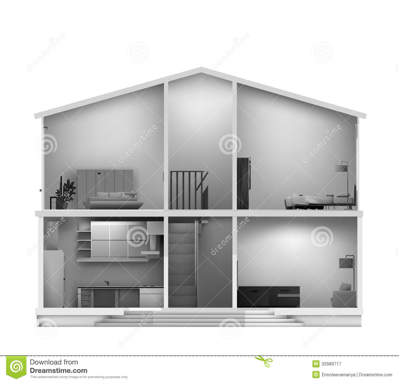 Amazing House cut with interiors in black white colours. Vector illustration. 1300 x 1248 · 87 kB · jpeg