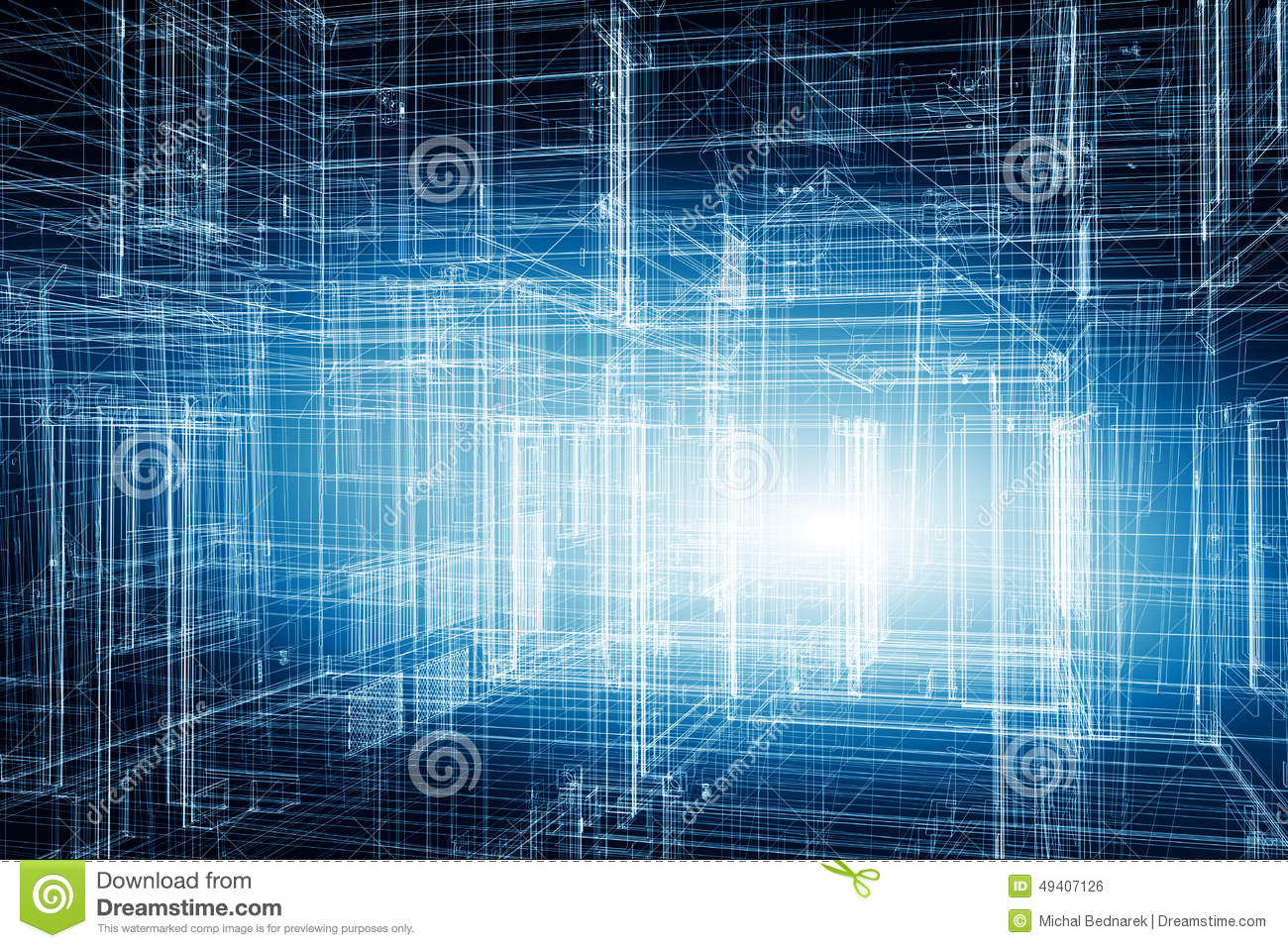 Architecture Design Blueprint House Stock Photo Image