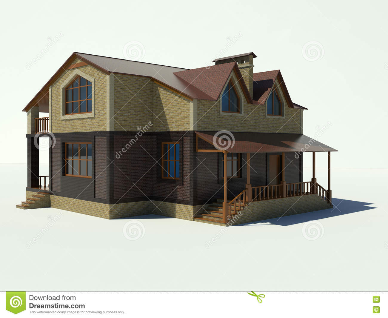 House 3d On A White Background Royalty Free Stock Images