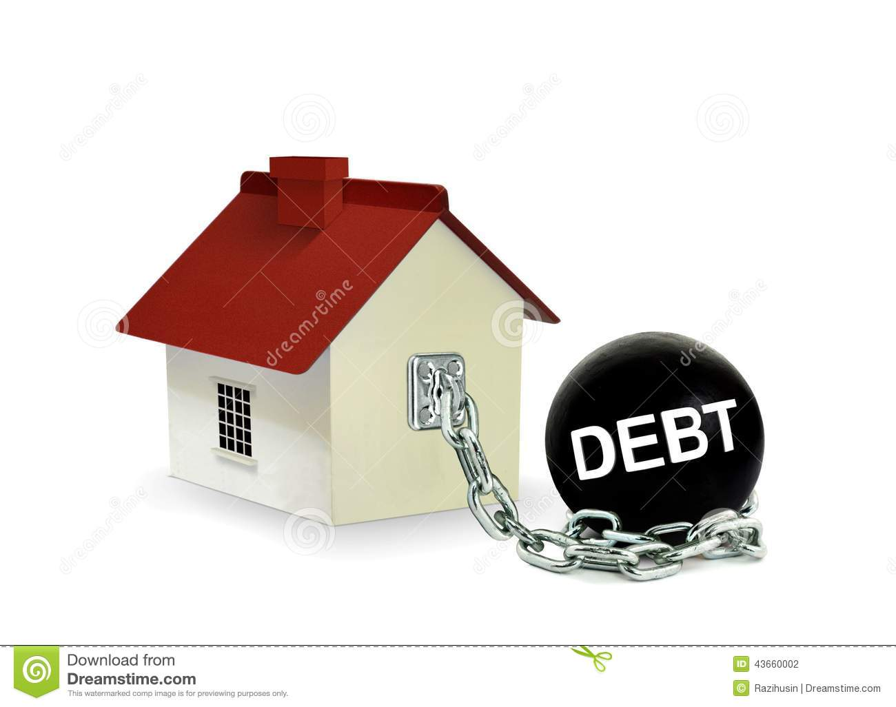 House with debt ball stock photo image of architecture for Find a house online