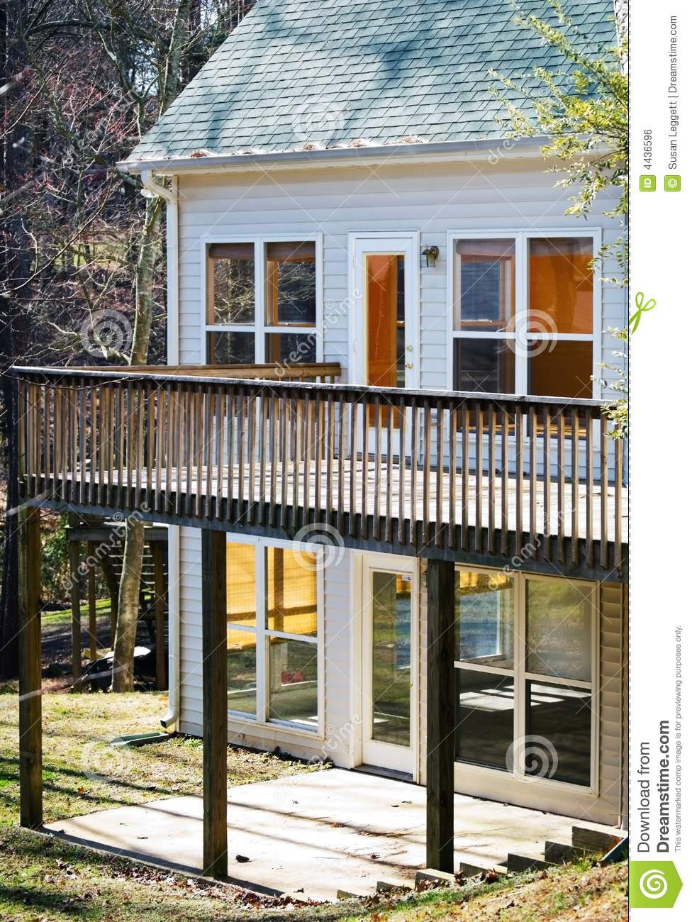 House with deck and patio