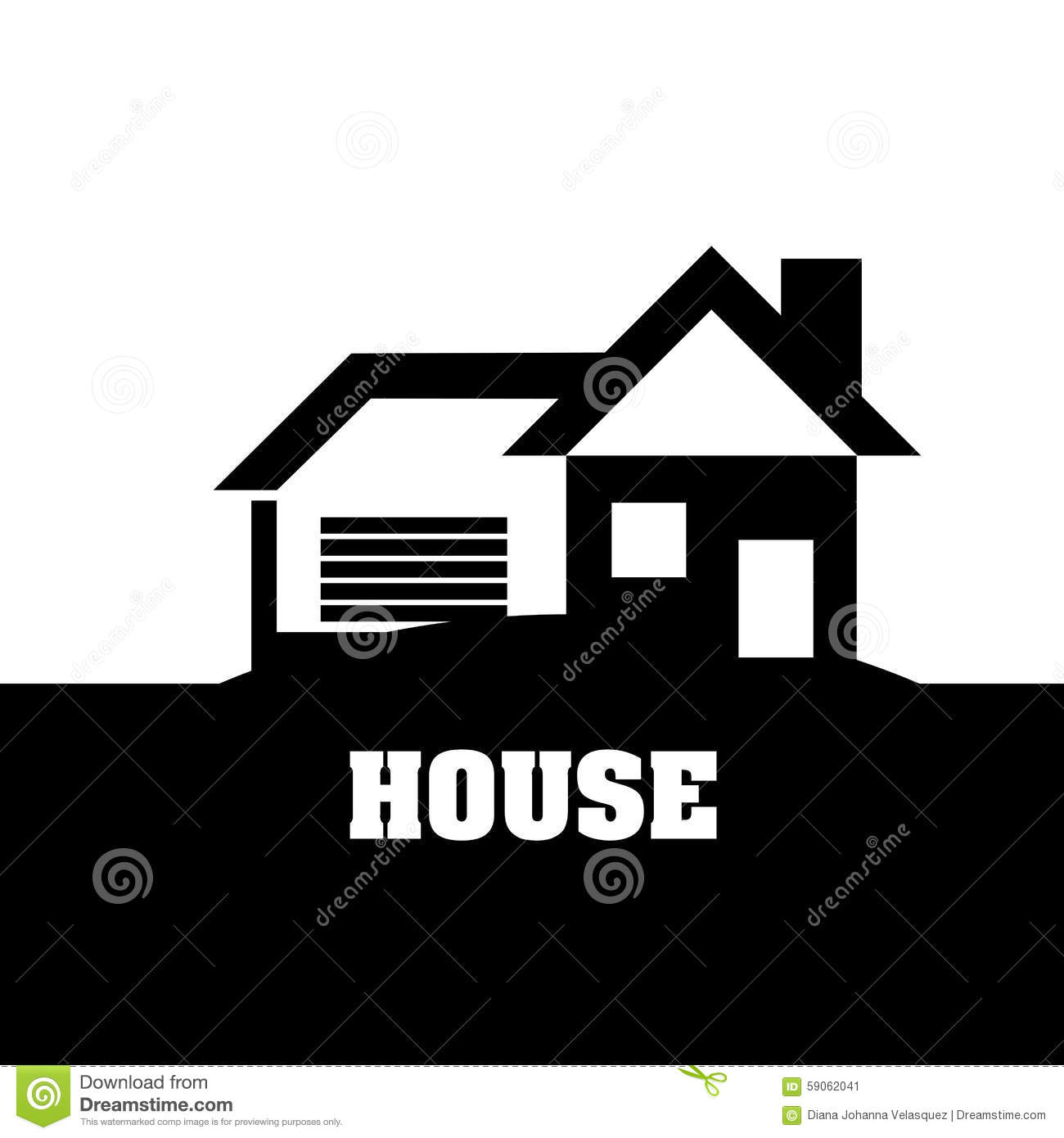 House design stock vector image 59062041 for Graphic design house