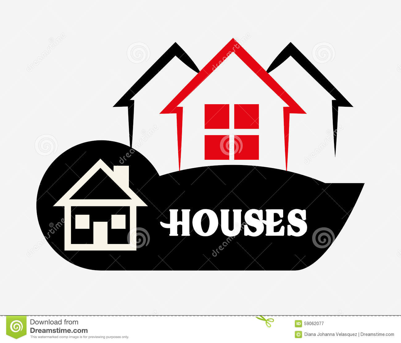 House design stock vector image 59062077 for Graphic design house