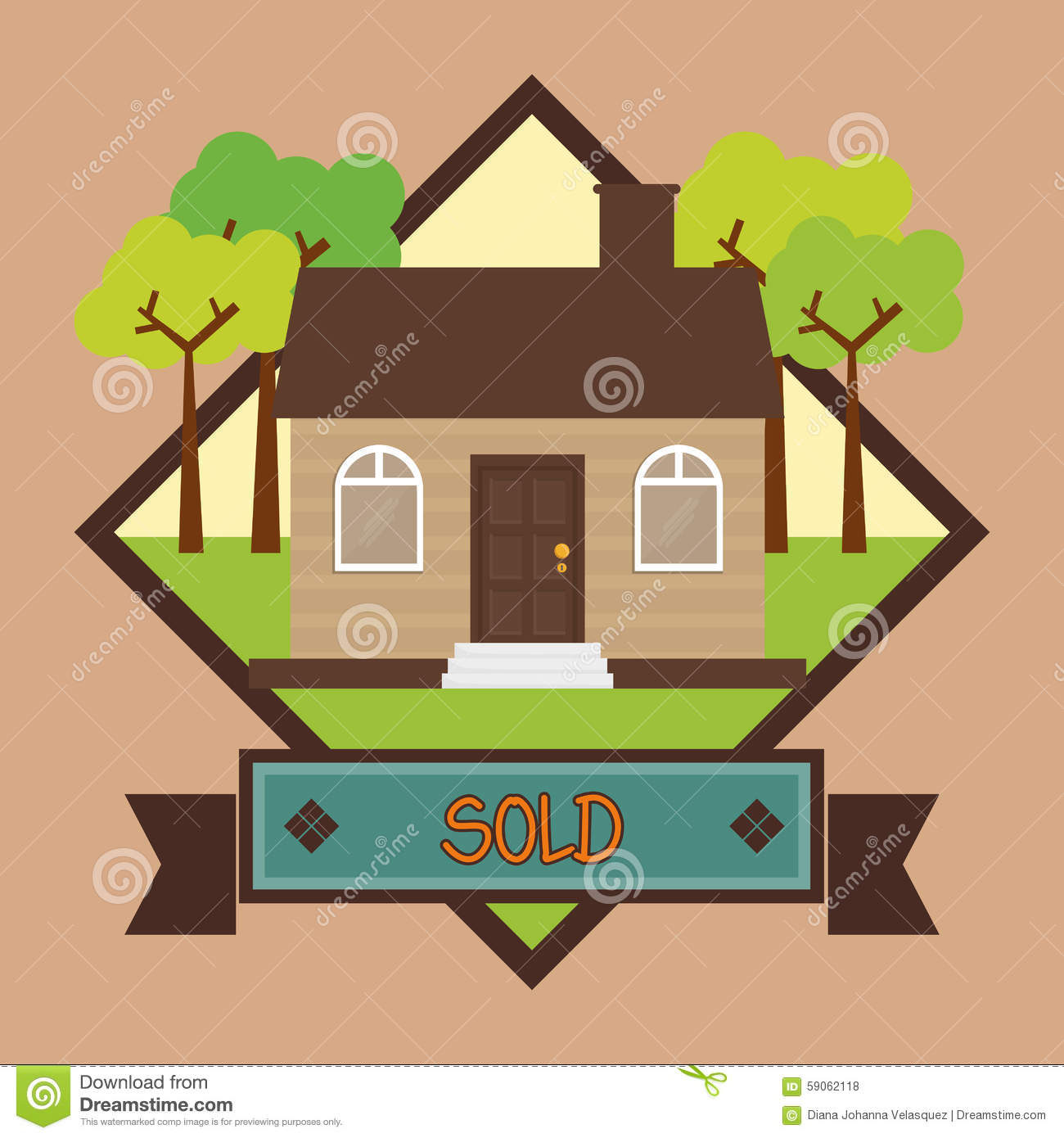 House Design Stock Vector Image 59062118