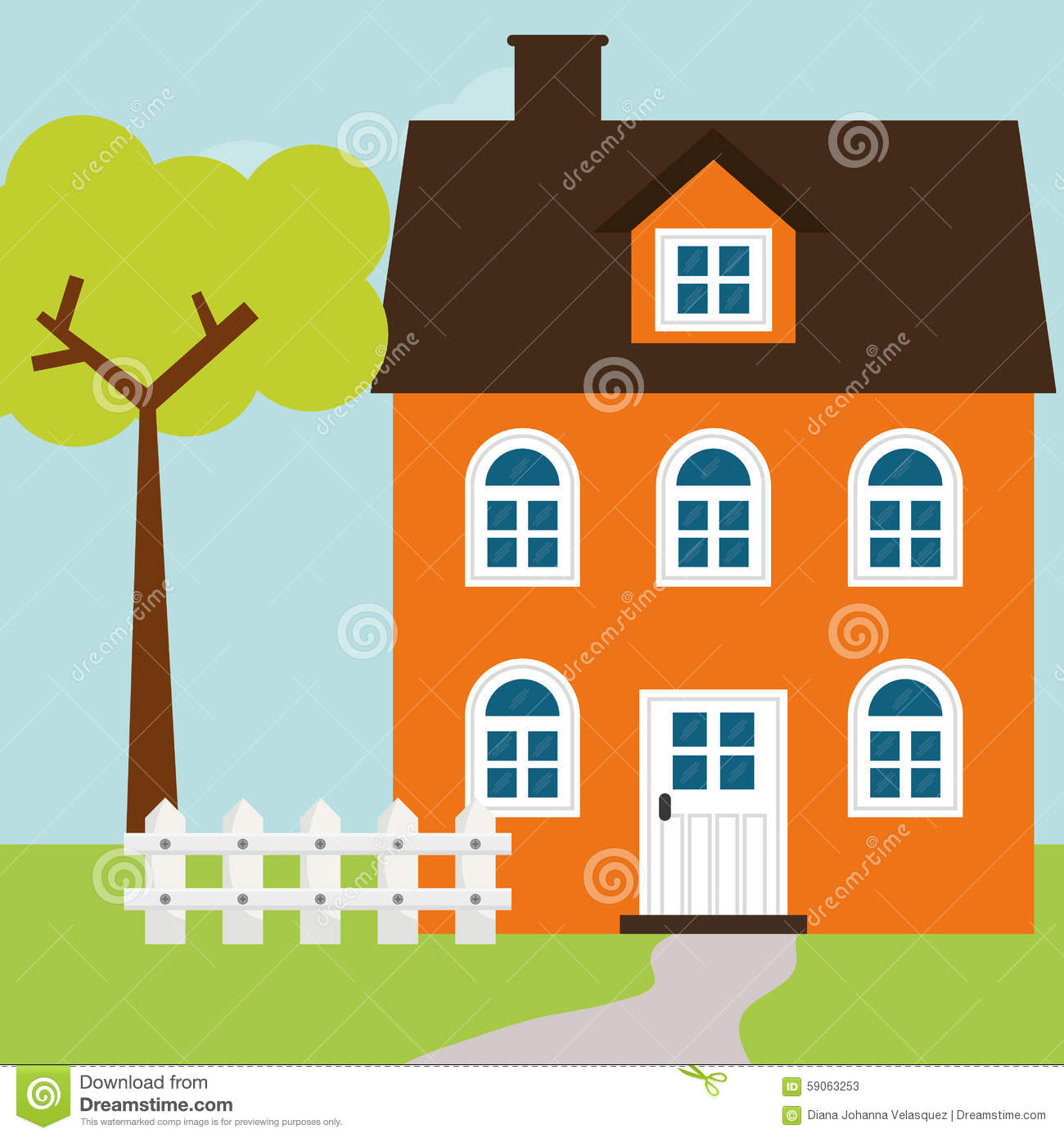 House design stock vector image 59063253 for Digital house design