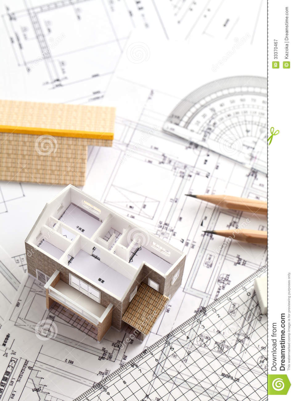 House design drawing stock image image of dwelling for Build as you go house plans