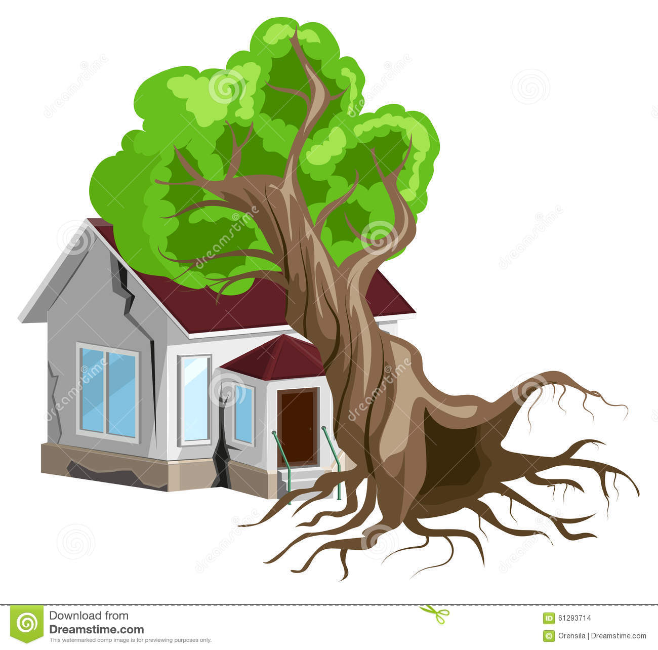 Cartoon Tree Falling – Free for commercial use no attribution required high quality images.