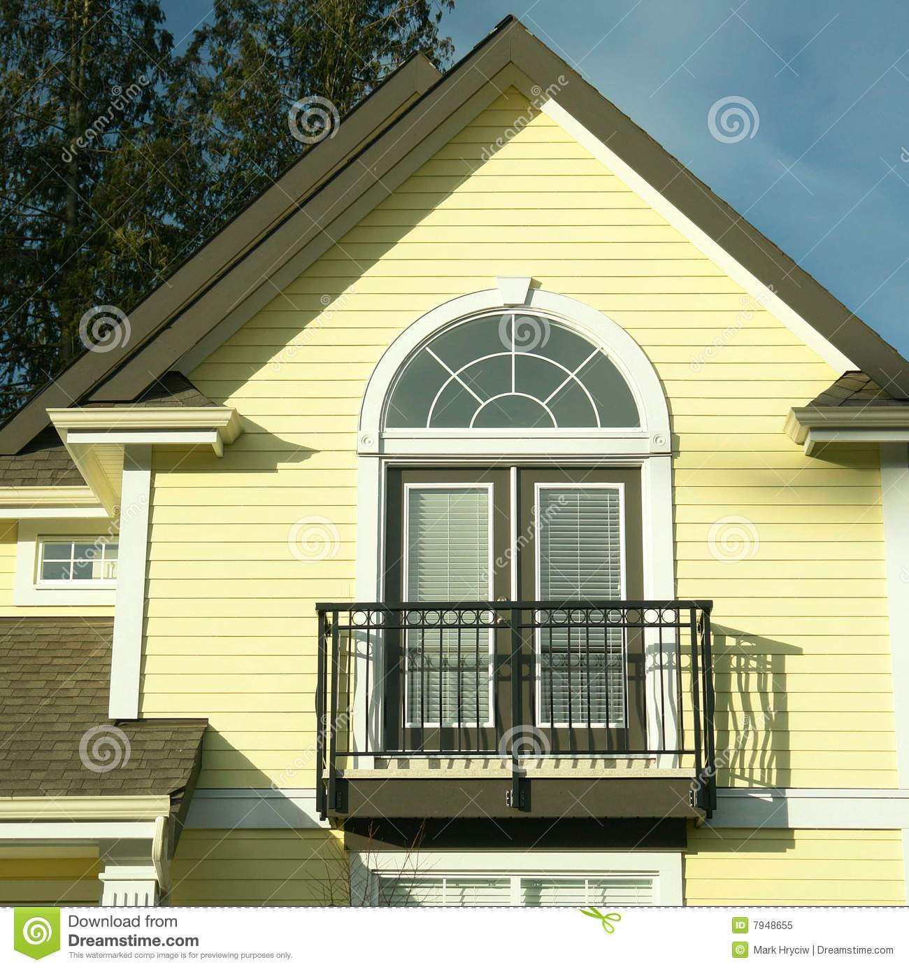 House Detail Yellow Siding Stock Image Image Of Doors