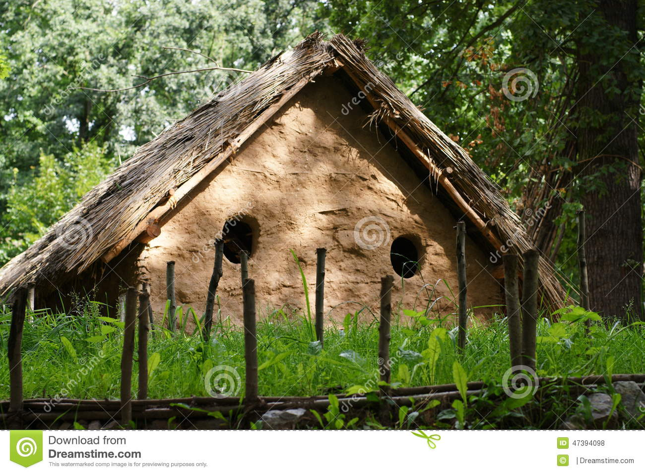 House in the distance stock photo. Image of forest, grass - 47394098 for Medieval Cottage In The Woods  177nar
